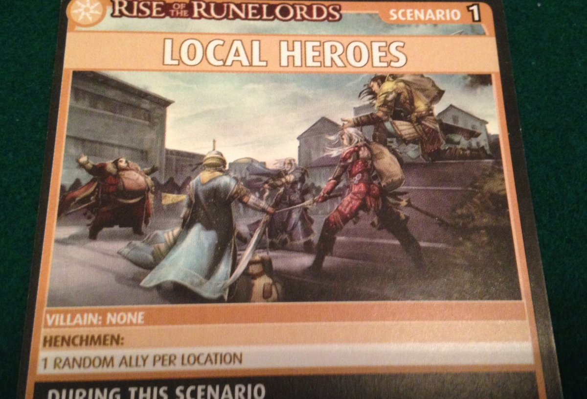 Session report: Local heroes