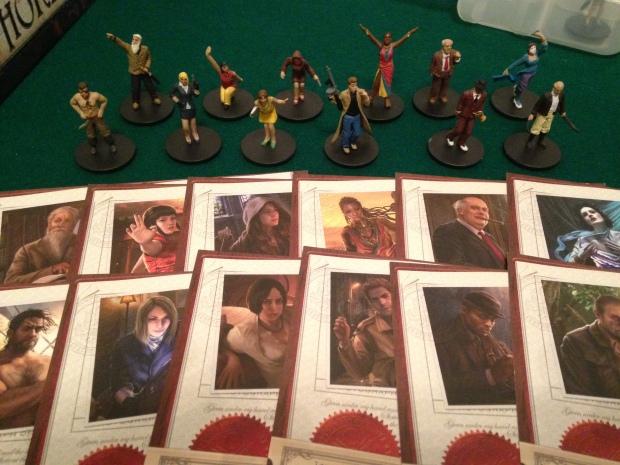 Eldritch Horror miniatures