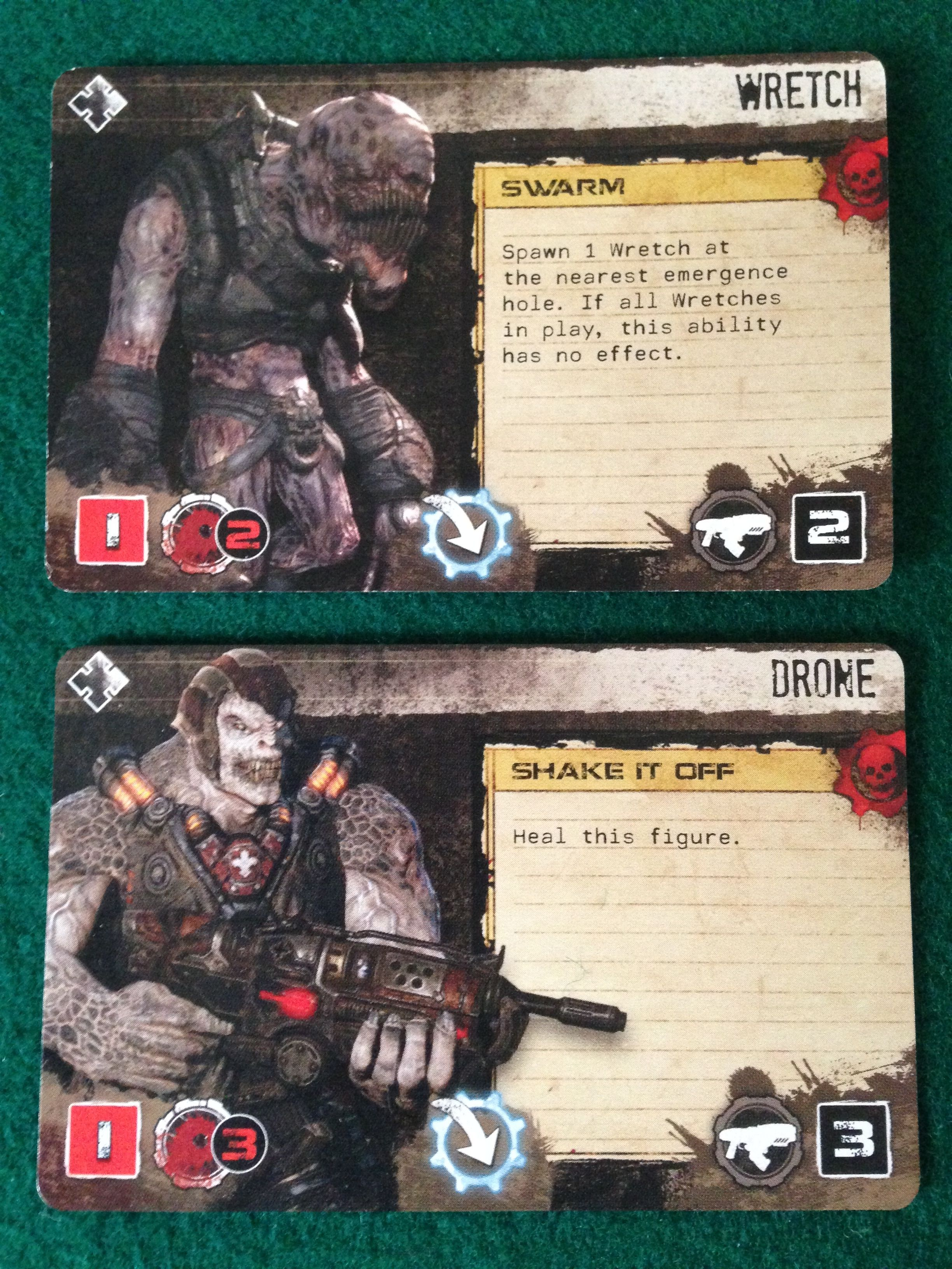 Gears Of War Comparing Attacks Tims Board Games