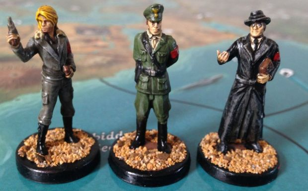 Tresa - the Femme Fatale, Colonel Stahl - the Iron fist, and Herr Teufel - The Occult Specialist