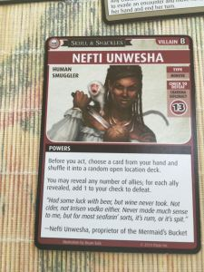 Nefit Unwesha is the villain in this adventure. Her Charisma check of 13 is hard to beat.