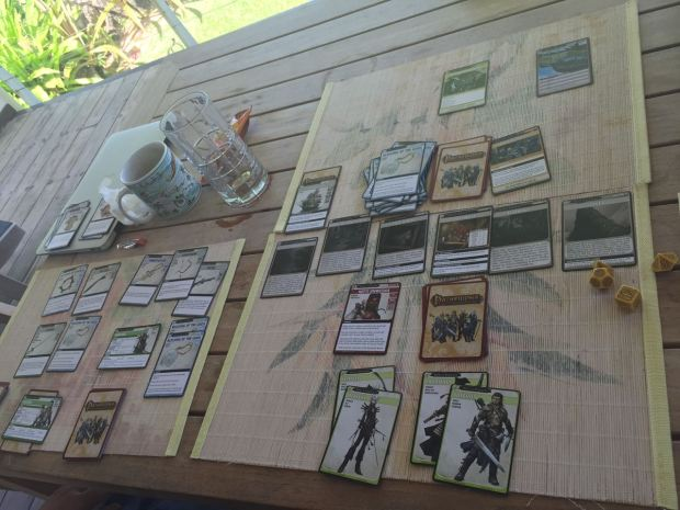 Our game layout. This was back in September, in Kauai.