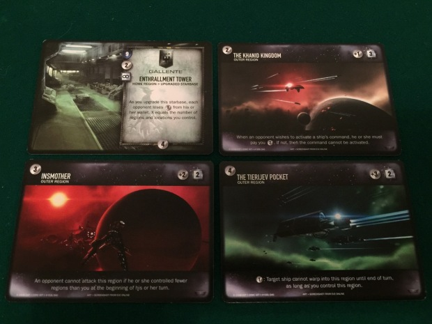 The space images are screenshots from the main Eve Online computer game