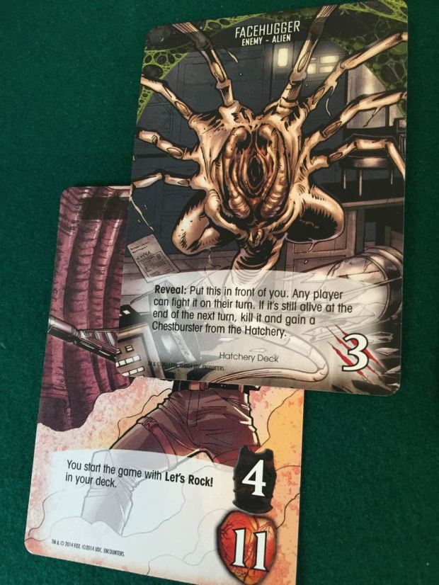 In one of my games I left an egg alone too long. An event card turned up and the egg hatched a facehugger. Luckily I had enough attack to kill it straightaway.