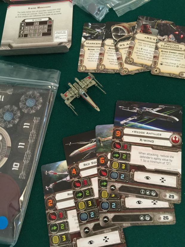 The expansion X-Wing comes with a lot of stuff. Some of it is new.