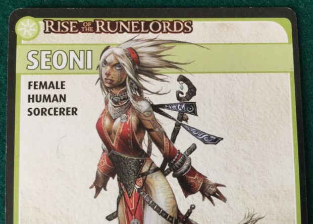 Seoni. Female, human, sorcerer. Nearly dead.