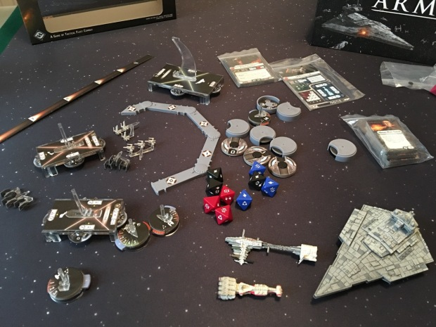 This isn't all the bits. There are loads of tokens and cards and stuff.